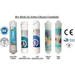 Su Arıtma 1 Mikron, GAC, CTO, Mineral ve Detox Filtre Seti