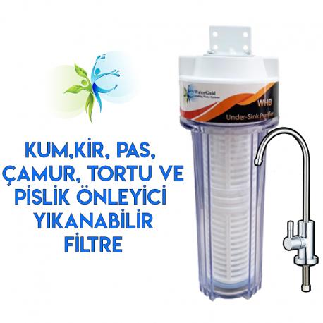Mutfak Tezgahı Lavabo Evye Altı Yıkanabilir Su Arıtma Filtresi