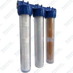 Reçineli Aktif Karbonlu Kireç Kırıcılı Filtre Sistemi