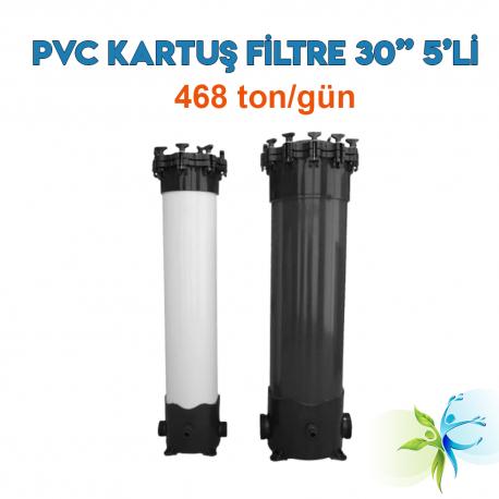 """Watergold 30"""" 5'Li PVC Model Su Arıtma Kartuş Filtre"""