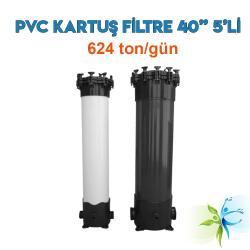 """Watergold 40"""" 5'Li PVC Model Su Arıtma Kartuş Filtre"""