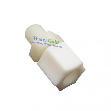 Su Arıtma Cihazı Ara Bağlantı Nipeli 3/8 Jaco 3/8 inç Dış Diş