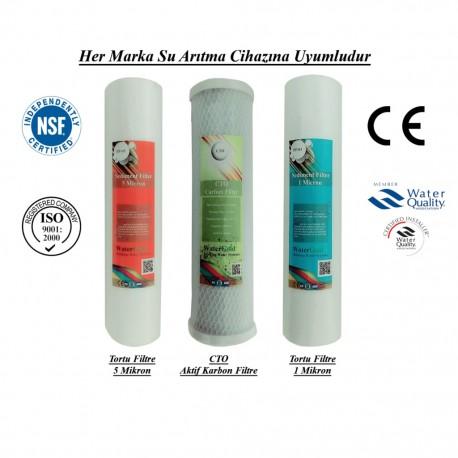 2 Ad. Pislik-Çamur-Pas Giderici Filtre ve CTO Aktif Karbon Filtre