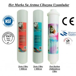 Pislik-Çamur-Pas Filtresi, Post Karbon Filtre Seti