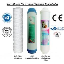 İplik+GAC Karbon+Post Karbon Set