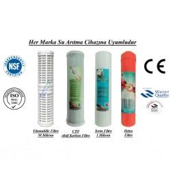 Yıkanabilir+CTO Aktif Karbon+1 Mikron Sediment+Detox Filtre