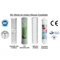 Yıkanabilir+GAC Aktif Karbon+İplik+Post Karbon Filtre