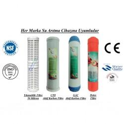 Yıkanabilir+GAC Aktif Karbon+CTO Aktif Karbon+Detox Filtre