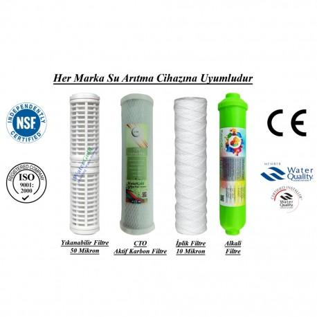 Yıkanabilir+CTO Aktif Karbon+İplik+Alkali Filtre