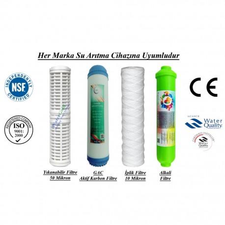 Yıkanabilir+GAC Aktif Karbon+İplik+Alkali Filtre