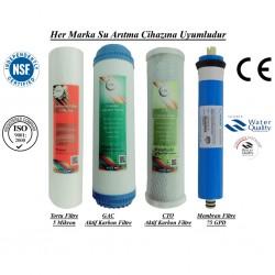 5 Micron Sediment+GAC Aktif Karbon+CTO Aktif Karbon+Membran 75 GP