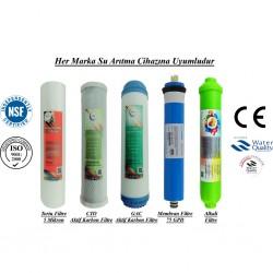 5 Miktron Sedimenent+GAC Karbon+CTO Karbon+Membran+Alkalin Filtre
