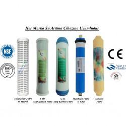 Yıkanabilir+GAC Aktif Karbon+CTO Karbon+Membran+Mineral Filtre